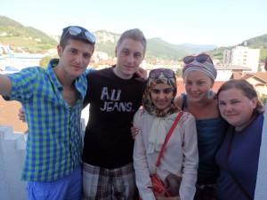 Farhana with the group from Bosnia