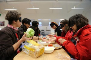 Making a meal blindfolded